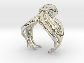Cthulhu Ring in 14k White Gold