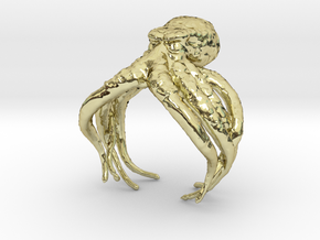 Cthulhu Ring in 18k Gold Plated Brass