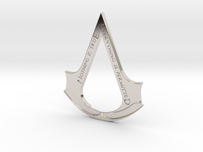 Assassin's creed logo-bottle opener  in Rhodium Plated Brass