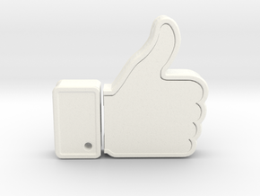 THUMBS UP USB HOLDER in White Processed Versatile Plastic
