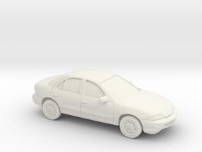 1/87 1999-03 Chevrolet Cavalier Sedan in White Natural Versatile Plastic