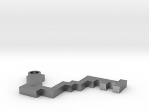 Maze Pendant 1 in Raw Silver