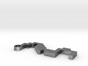 Maze Pendant 5 in Premium Silver