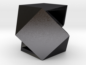 CODE WP1S2 - PENDANT in Polished and Bronzed Black Steel