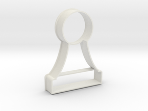 Cookie Cutter - Chess Piece Pawn in White Strong & Flexible