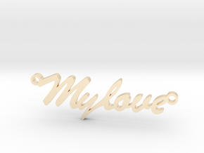"Pendant ""my love"" in 14k Gold Plated Brass"