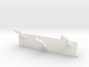 Clothes hangers in White Processed Versatile Plastic