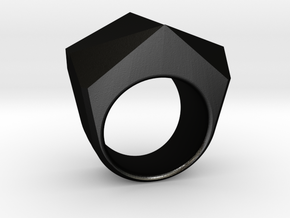 CODE: N12 - RING SIZE 7 in Matte Black Steel