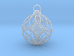 Star Cage Bauble in Smooth Fine Detail Plastic