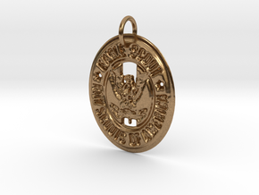 Eagle Scout Pendant in Natural Brass