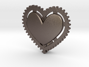 NEW! Fixie Heart NUT, for M6 x1 Screw in Polished Bronzed Silver Steel