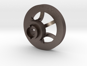 1/16 Idler wheel  E-100 part 1 in Polished Bronzed Silver Steel