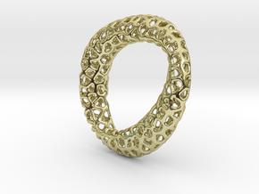 Voronoi pendant mobius in 18k Gold Plated