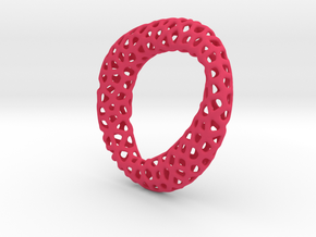 Voronoi pendant mobius in Pink Strong & Flexible Polished