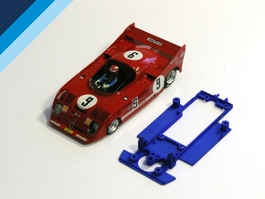 1/32 SRC Alfa Romeo 33TT12 Chassis for Slot.it pod in Blue Strong & Flexible Polished