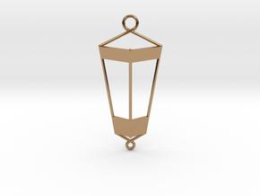 Lantern Pendant in Polished Brass