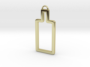 Absolute bottle in 18k Gold Plated Brass
