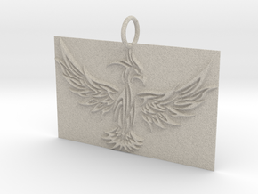 Square Phoenix Pendant in Natural Sandstone