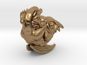Dragon Baby Talisman in Natural Brass