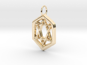 Jewish Star in 14K Yellow Gold