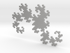 Heighway's Dragon Curve (6x4) in Aluminum