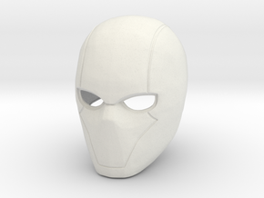 Red Hood helmet V5 in White Natural Versatile Plastic