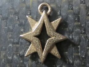 Starbright Pendant in Polished Bronzed Silver Steel
