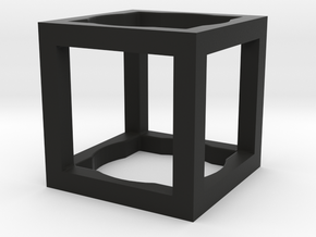 Cube ring size 47mm in Black Natural Versatile Plastic