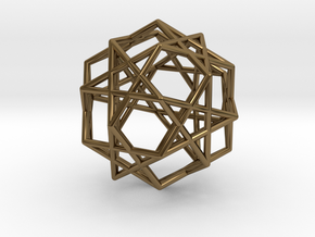 Star Dodecahedron in Polished Bronze