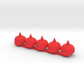 5 x Pickel Helmet in Red Processed Versatile Plastic