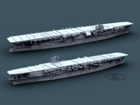 1/1800 IJN CV Kaga [1942] in White Natural Versatile Plastic
