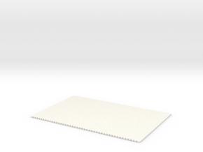 Straat Stenen Opp Klein Zonder Naadhelft  H0 in White Strong & Flexible Polished
