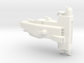 Hyperion Hull A in White Processed Versatile Plastic