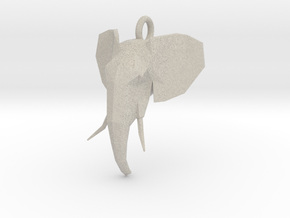 Elephant Head in Natural Sandstone