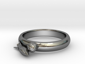 Moon Rocket Ring S 6 2015 in Fine Detail Polished Silver