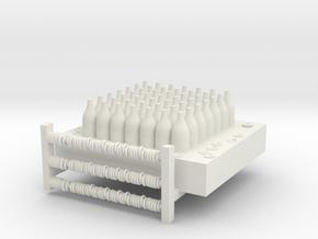 Bottlejointlarger Fixed in White Natural Versatile Plastic
