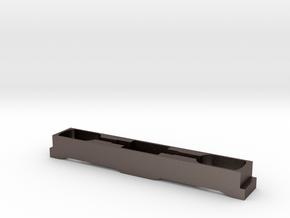 """Lok """"12X"""" Rahmen Spur TT (1/120,1-120, 1:120)  in Polished Bronzed Silver Steel"""