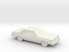 1/87 1975-77 Ford Granada Coupe in White Natural Versatile Plastic