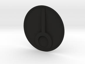 Tau Base 40mm V2 in Black Natural Versatile Plastic