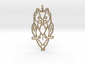 Night Owl Pendant in Polished Gold Steel