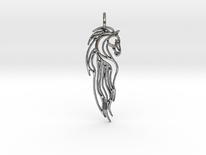 Rohan Horse Pendant in Polished Silver