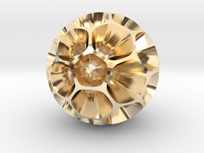 Pollen - Pendant / Keychain in 14K Yellow Gold