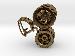 BajaRacer V1: Part 2 in set of 3 - Wheels in Polished Bronze