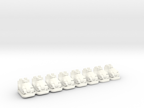 Kiddie Bumper cars Bertazzon in White Processed Versatile Plastic