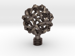 Wine Stopper Knot Ball in Polished Bronzed Silver Steel
