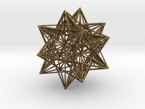 Icosahedron Stellation 3 in Polished Bronze
