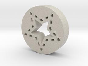 Star in Natural Sandstone