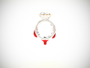 Blood Diamond Ring D16 in White Processed Versatile Plastic