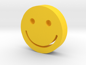 Smiley in Yellow Processed Versatile Plastic