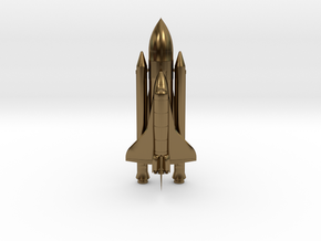 Space+Shuttle+Atlantis+3 in Polished Bronze